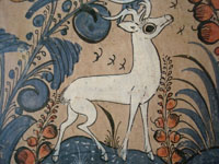 Closeup of Tlaquepaque tile with deer