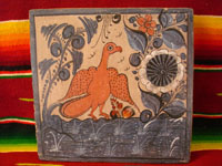 Mexican vintage pottery, eagle, Tlaquepaque c. 1935