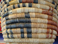 Another closeup photo of a Hopi coiled basket