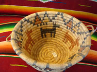 Photo of inside of Hopi coiled basket