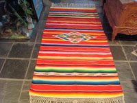 Mexican vintage sarapes and textiles, a beautiful Saltillo sarape, c. 1940. Main photo.