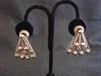 Mexican vintage silver jewelry, Taxco earrings, c. 1940's.