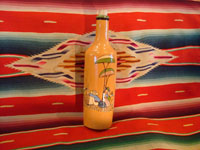 Mexican vintage pottery and ceramics, and Mexican vintage folk art, a pottery bottle from Tlaquepaque, Jalisco, c. 1930.