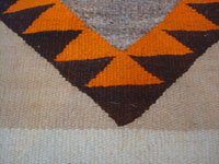 Native American Indian vintage textiles, and Navajo vintage rugs and blankets, a beautiful Navajo rug, probably from the Crystal area, c. 1920's.  A closeup photo of one part of the design of the Navajo rug.