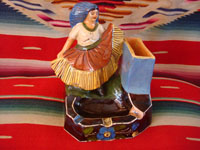 Mexican vintage pottery and ceramics, a wonderful Tejuana woman figure from Tlaquepaque, c. 1930-40's. Main photo.