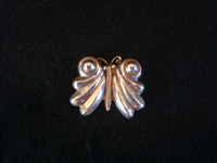 Mexican and Taxco vintage sterling silver jewelry, a beautiful butterfly pin from Taxco, c. 1940's. Main photo of the Taxco silver pin.