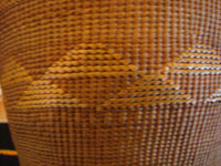 Closeup photo of Tlingit basket showing part of side decoration.