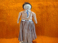 Native American Indian vintage folk art, and Navajo vintage folk art, a lovely doll in traditional Navajo dress, Arizona or New Mexico, c. 1930.  Main photo of the Navajo doll.