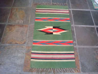 New Mexican vintage textile, a weaving from Chimayo, c. 1940. Main photo.