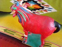 Mexican vintage pottery and folk art, a nagual by famous Mexican folk artist Candelario Medrano, c. 1960's. A photo showing a side-view of the nagual.