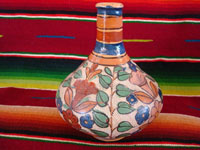 Mexican vintage pottery and ceramics, a beautiful petatillo pottery vase from Tonala, c. 1930's, attributed to the great artist Balbino Lucano. Main photo of vase.