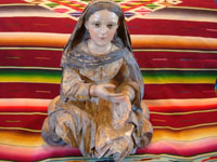 Mexican or Guatemalan antique devotional art, a beautiful statue depicting Our Lady or another woman saint, c. 1890-1910, Mexico or Guatemala. Main photo.