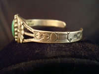 Navajo bracelet, side view.
