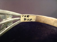 Navajo bracelet, view of original sales tag.