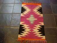 Native American Indian vintage textiles, and Navajo vintage rugs and textiles, a beautiful Navajo rug of fine Germantown woolen yarn, Arizona or New Mexico, c. 1900. Main photo of the rug.