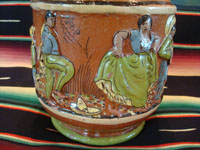 Mexican vintage pottery and ceramics, a wonderful pottery pulque pitcher from Tlaquepaque, Jalisco, c. 1930's. Another closeup of the couple dancing.