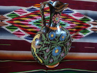 "Mexican vintage pottery and ceramics, a very beautiful and rare, ""starry-night"" blackware pitcher with incredibly fine artwork, Tlaquepaque or Tonala, Jalisco, c. 1920's. Main photo of the Tlaquepaque pitcher."