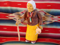 Native American Indian folk art, Navajo wood carving by Johnson Antonio, c. 1980's.