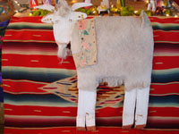 Native American Indian folk art, cardboard cutout of goat by Mami Deschillie, c. 1980.