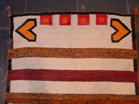 Closeup photo of top of Navajo textile.