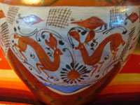 Closeup of Sayula pottery jar