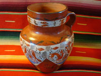 Mexican vintage pottery, pitcher from Michoacan, c. 1925.