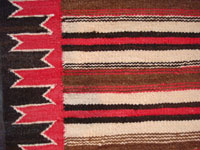 Closeup photo of Navajo saddle blanket