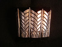 Mexican vintage jewelry, Taxco silver bracelet from workshop of Los Castillo, c. 1940.