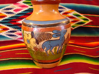 Photo of Tonala vase showing side with lovely deer.