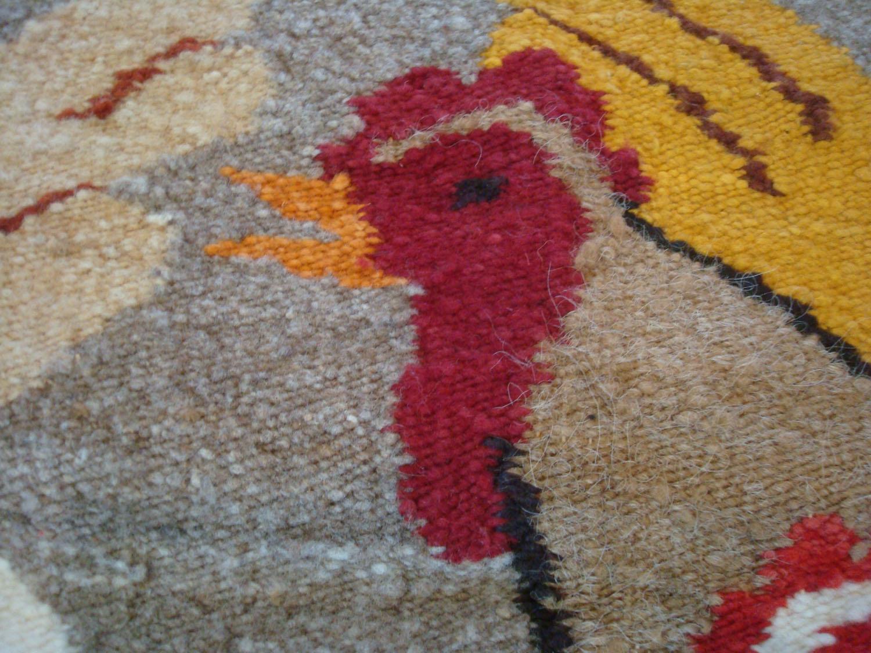 Chimayo Rug Vintage Chimayo Hand Woven Blanket Rug Native
